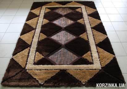 Ковер Шегги Loop 2113 с кожаными вставками 1,5х2,3 м