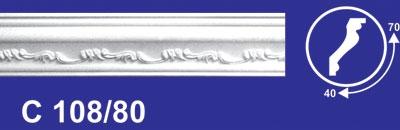 Рейка резная Solid C 108/80