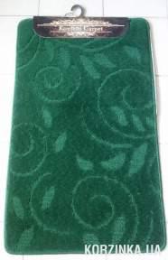 Набор ковриков для ванной комнаты и туалета Classic Smart зеленый