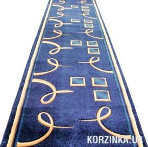 Ковровая дорожка Роза 0512 синяя